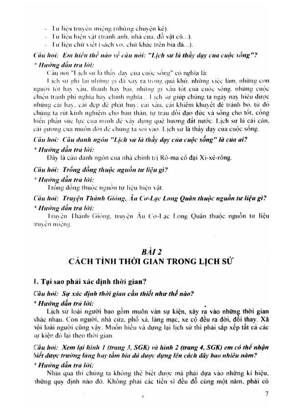 Trang 6 sach Hướng Dẫn Trả Lời Câu Hỏi và Bài Tập Lịch Sử 6 - Tạ Thị Thúy Anh