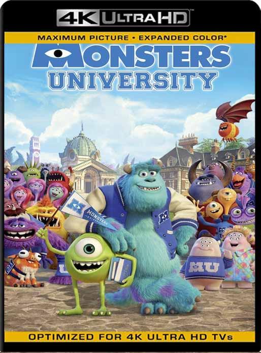 Monsters University (2013) 4K 2160p UHD [HDR] Latino [GoogleDrive]