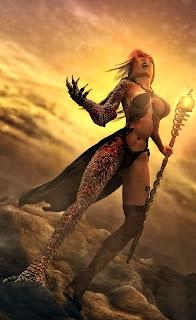 Dragon Magic Girl Mobile HD Wallpaper