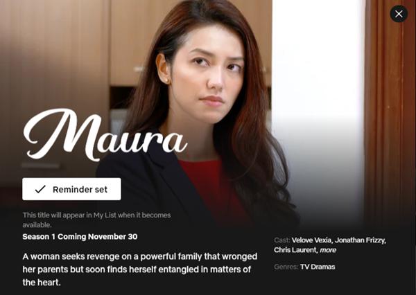 Maura 30 November 2020 Netflix