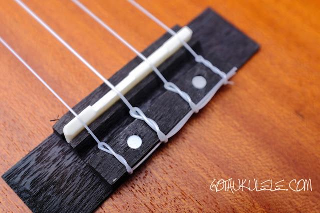 Horse HUK-23 Concert Ukulele bridge