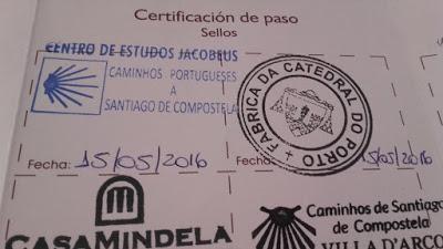 credencial no Caminho de Santiago de Compostela