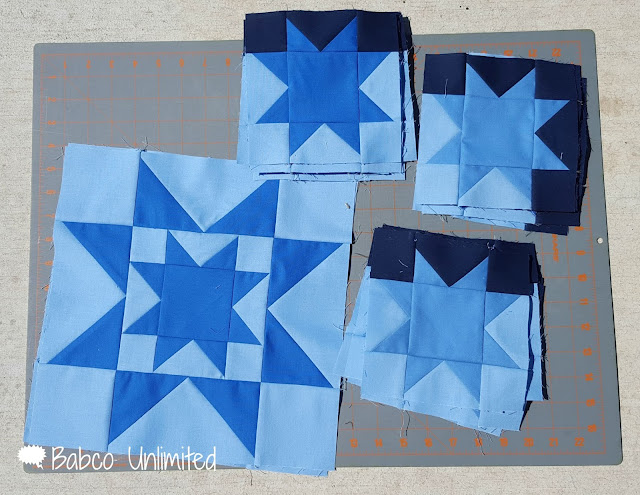 BabcoUnlimited.blogspot.com -- Mystery Quilt Day 3, Modern Quilt, Blue Quilt