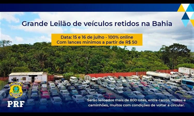 PRF realizará mais um leilão com mais de 800 veículos retidos no Sudoeste da Bahia