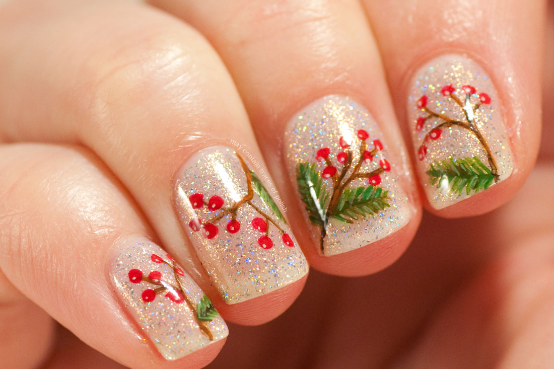 Winter Berry Nail Art with ILNP Sunday Brunch