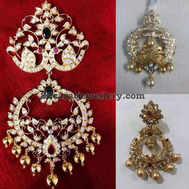 Peacock Pendants by Amaravathi Jewellers
