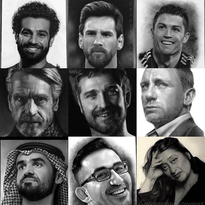 جميع أعمال الرسامة العراقية أنتصار محمد