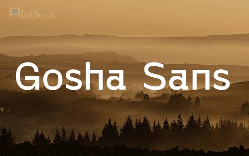 Gosha Sans English font
