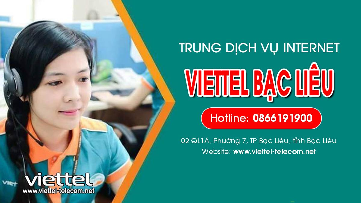 Viettel Bạc Liêu - Tổng đài lắp mạng Internet và Truyền hình ViettelTV