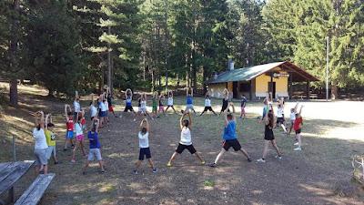 I ragazzi del campo estivo di Taekwondo che si è svolto a Campo di Giove