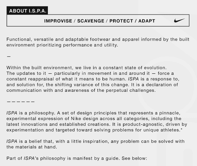 The Meaning of Nike ISPA Story Philosophy
