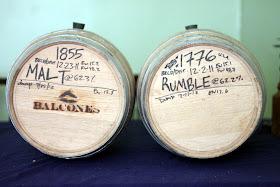 Two 5 gallon Balcones barrels.