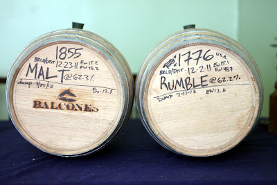 Two 5 gallon Balcones barrels.