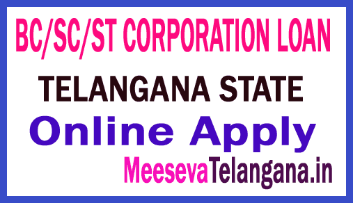 BC/SC/ST CORPORATION LOAN ONLINE APPLY IN TELANGANA STATE