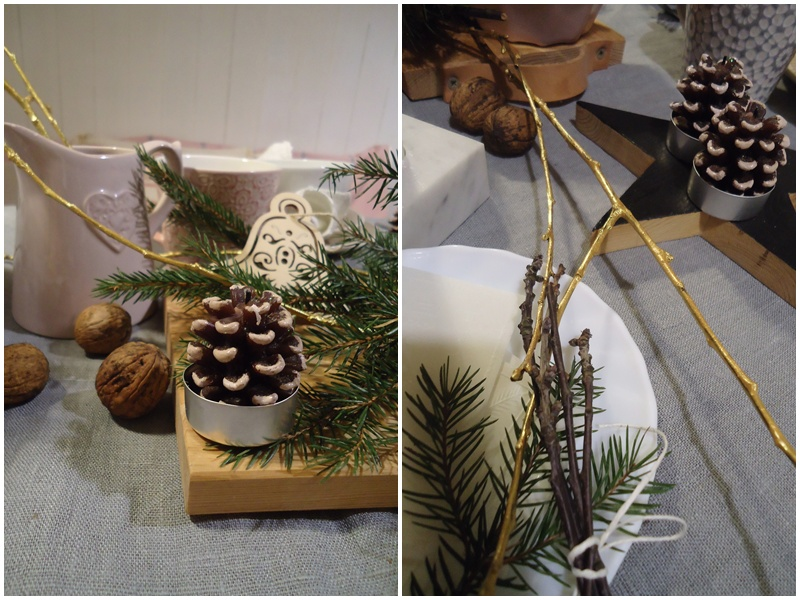 nakrycie stołu na święta w stylu lekko skandynawskim