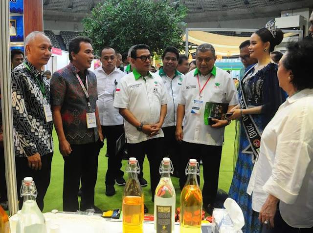 Tampilkan produk Unggulan di Pameran ASAFF 2020, Moeldoko kunjungi stand Kota Manado