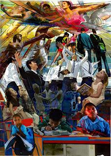 mural piramidismo cromatico