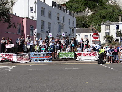 Kent protest against live animal exports