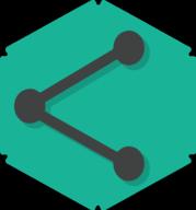 share hexagon icon