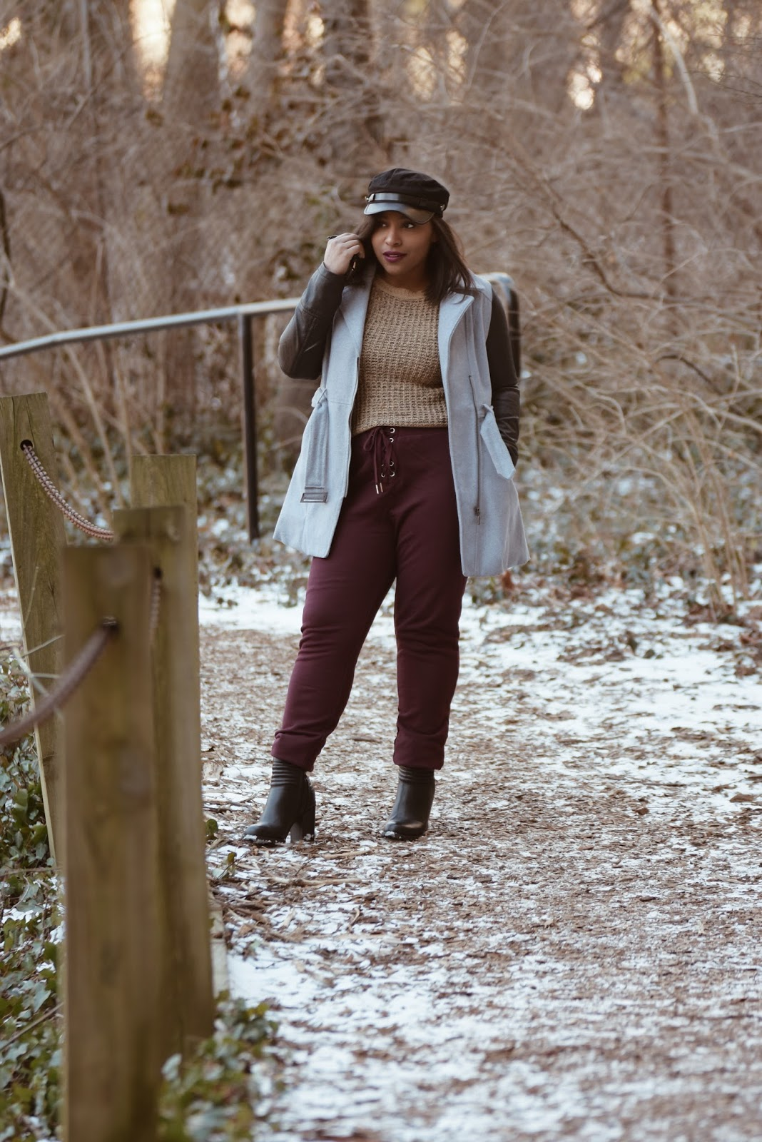 Shop Tobi, Winter outfit ideas, snow, winter jackets, joggers