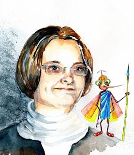 Begnadete Künstlerin und Illustratorin Claudia Gabriele Meinicke. Bild: privat