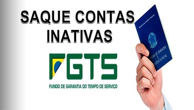 Cronograma saque contas inativas FGTS