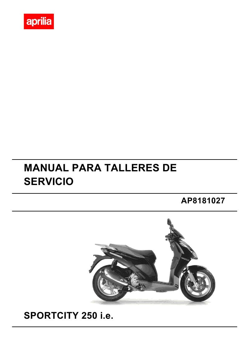 Filename: Aprilia Sportcity 250i Service Manuals Language: English File :  PDF Size: Mb
