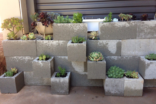 Upcycled concrete block planters chair and furniture ideas - What is cinder block made of ...