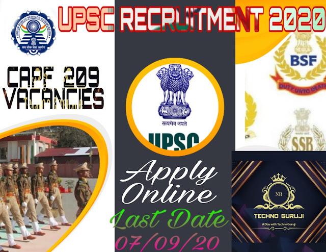 UPSC-CAPF-Assistant-Commandant-CPF-AC-Recruitment-2020.