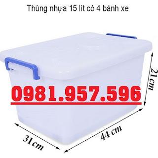 Thùng nhựa DA15, thùng nhựa DA30