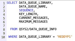 Retrieve Data Queue Info