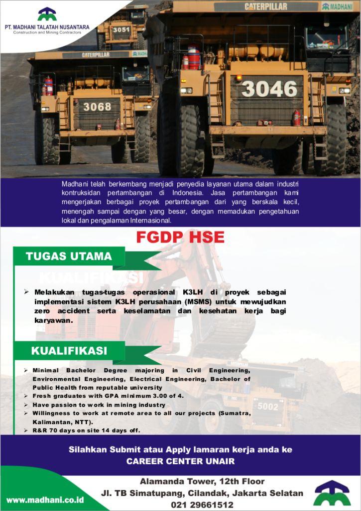 Lowongan Kerja PT Madhani Talatah Nusantara