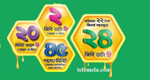 Teletalk Bondho SIM Internet offer 1GB 19 TK