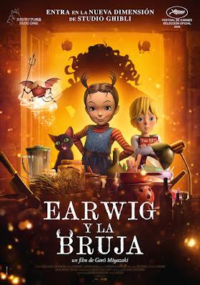 EARWIG Y LA BRUJA - cartel de película de animación 3D de  Studio Ghibli