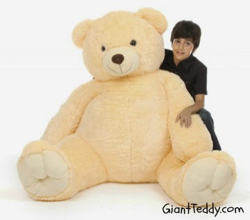 Tiny Tubs vanilla cream life-size teddy bear