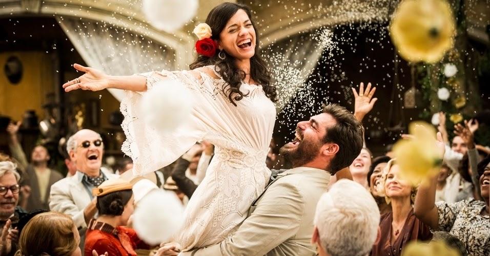 novela joia Rara vestido noiva