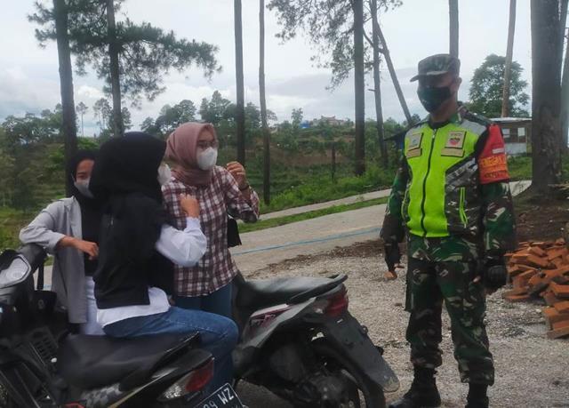 Tepatnya Ditempat Wisata Simarjarunjung Personel Jajaran Kodim 0207/Simalungun Laksanakan Gakplin