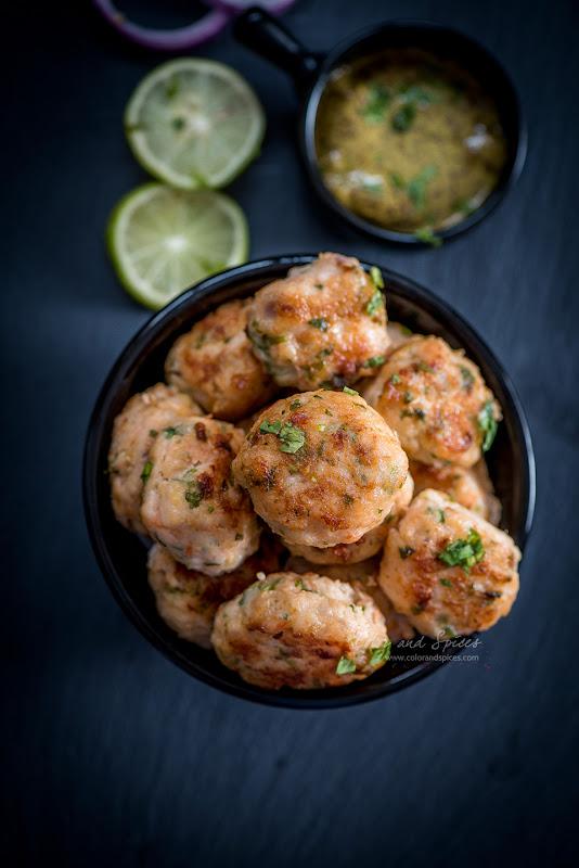 chingrir bora, shrimp balls