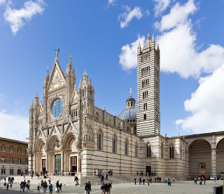 The cathedral at Siena is considered to be one of Italy's  finest examples of Romanesque-Gothic architecture
