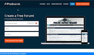 Proboards homepage