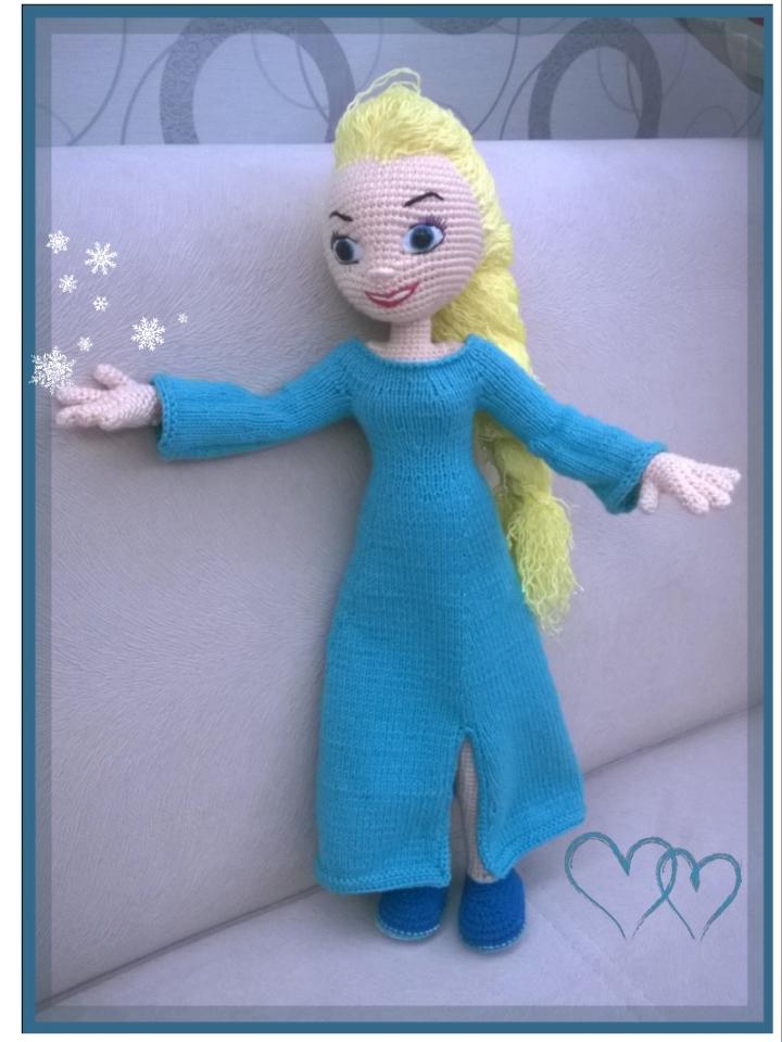 Samyelinin örgüleri Elsa Frozen Karlar Kraliçesi