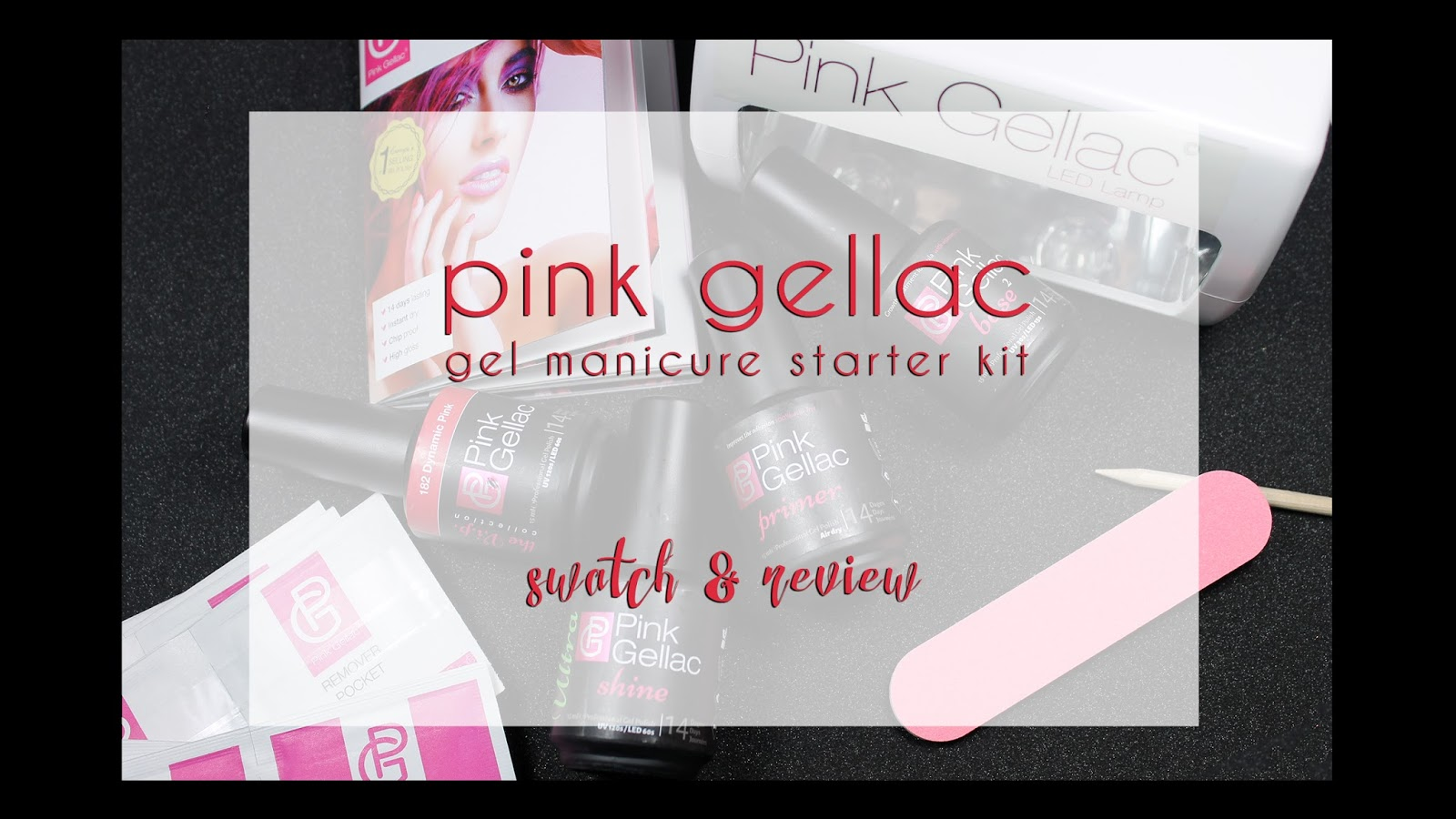 Bedlam Beauty: Pink Gellac Gel Manicure Starter Kit | Swatch & Review