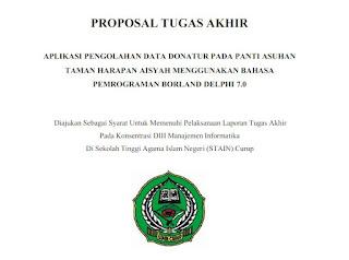 Contoh Proposal Tugas Akhir