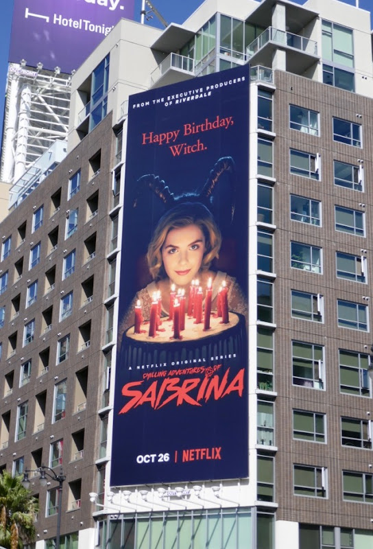 Chilling Adventures of Sabrina Netflix billboard