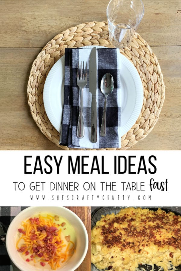 Easy meal ideas to get dinner on the table fast on busy nights - family dinner ideas, easy dinner ideas