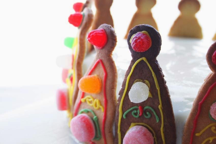 Tarta corona de princesa con galletas4