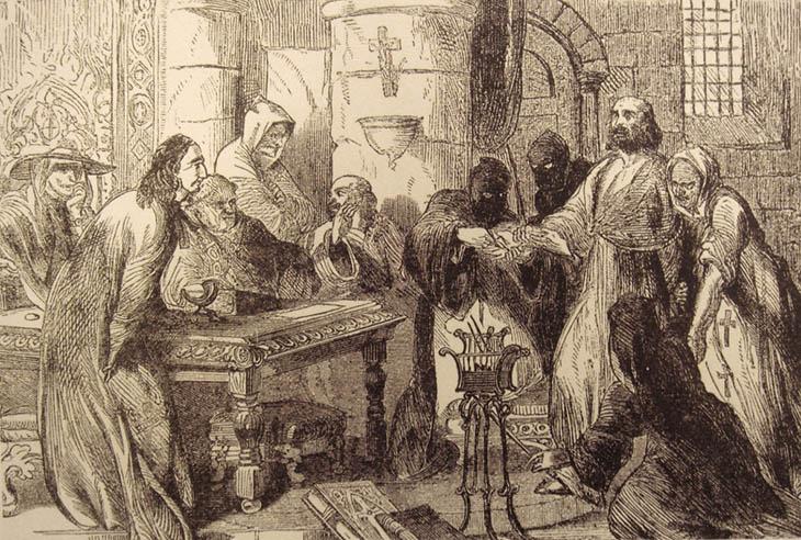 A, din, hristiyanlık, tarih, Tapınak şövalyelerinin büyük laneti,Tapınak şövalyelerine neden komplo kuruldu,Fransa kralı Philip'in tapınak şövalyelerini öldürmesi, tarih,