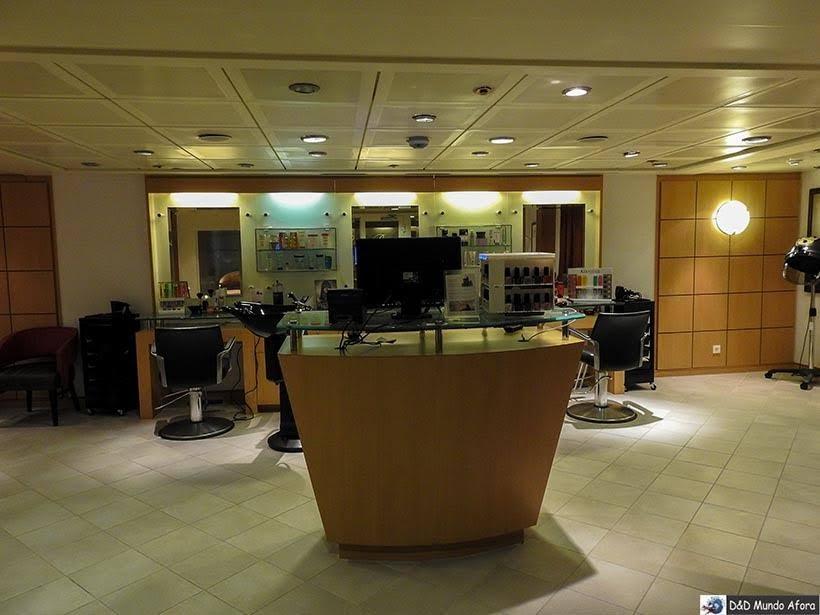 Salão de beleza do navio - Cruzeiros marítimos: tudo sobre viagem de navio