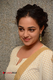 Actress Nithya Menen Pictures at 100 Days of Love Pre Release Press Meet  0124.JPG