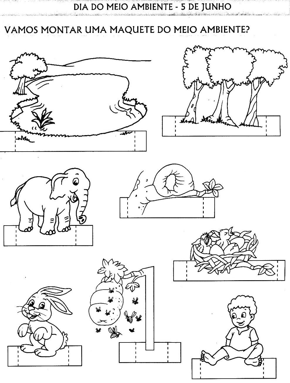 Meio Ambiente Ecologia Seres Vivos 180 Atividades E Desenhos